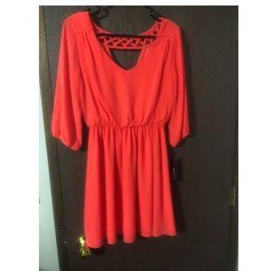 Macy's coral dress